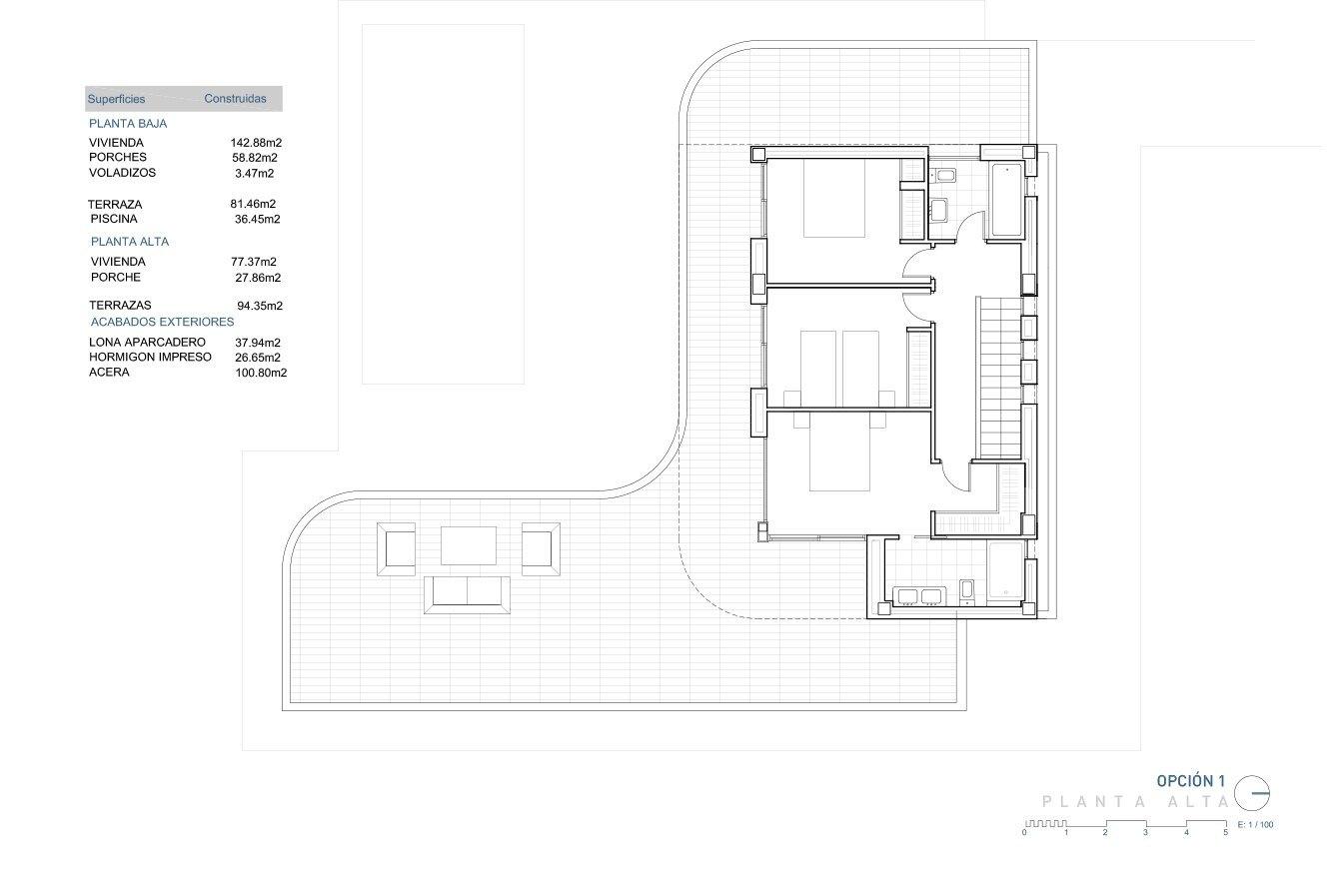 Proyecto de una villa moderna en Vista del Valle, Moraira